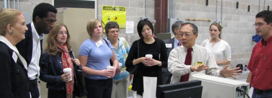 Photo of Dahsin Liu in the CVRC Lab