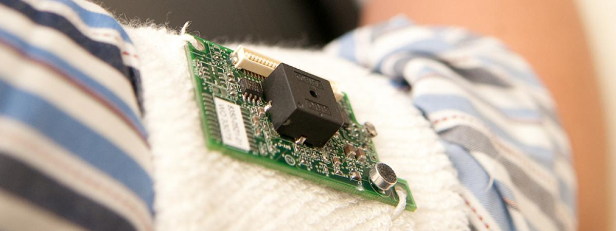 A new wireless sensor network will help researchers measure physical activity. Photo by G.L. Kohuth