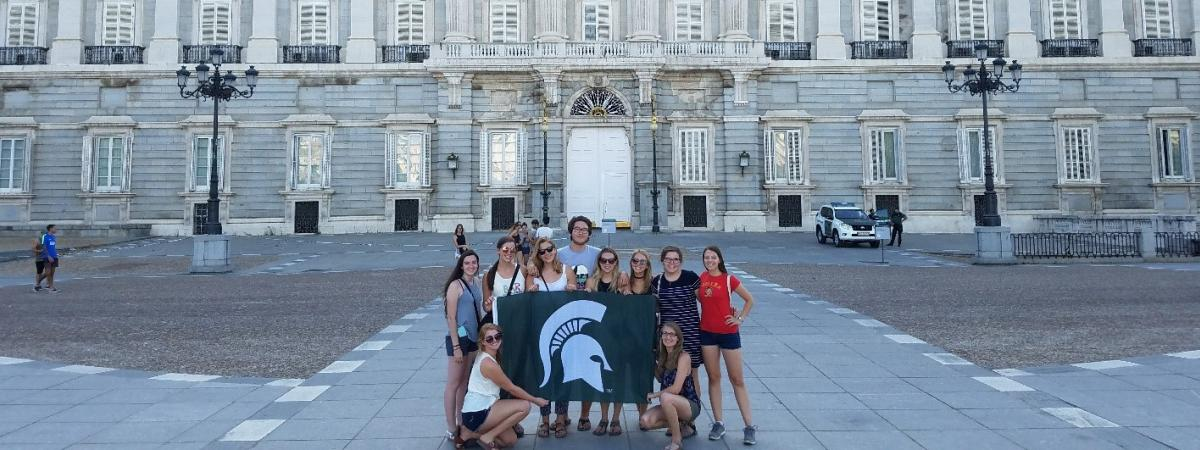 MSU Education Abroad students in Madrid, Spain