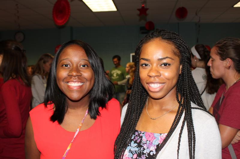 Photo of two women at the Code Red WIE and CoRe Kickoff Event