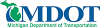 Logo of the Michigan Department of Transportation (MDOT)
