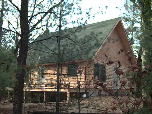 Pentwater Cabin Front View 11/96