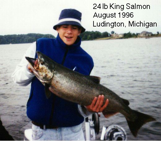 Salmon Caught by Nathan 8/96