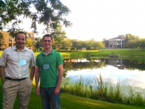 Cenk and Nate on the Campus of Bryant University